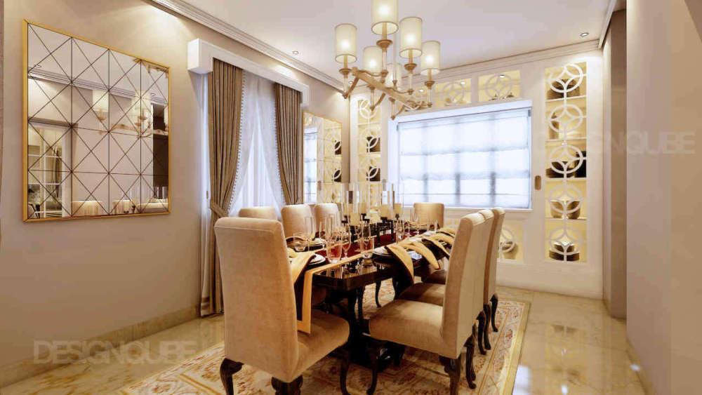Dining Residential of Villa  at Besant Nagar
