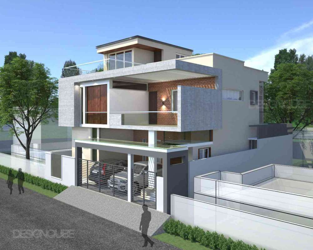 ISOMETRIC VIEW OPTION - 01 Residential of Villa  at Gurusamy Nagar