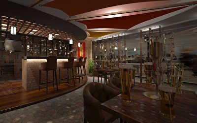 Restobar Interiors  at Whitefield, Bangalore