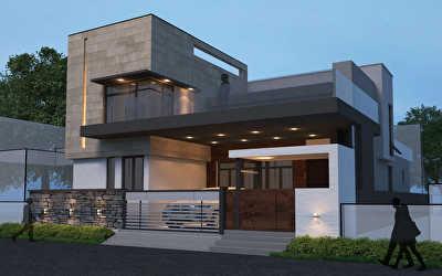 Villa Architecture  at Vignesh Nagar, Dindigul