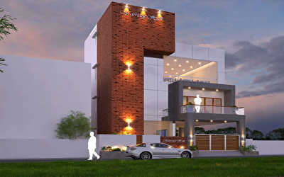 SOUTH WEST NIGHT VIEW Commercial of Marriage Hall  at Valasaravakkam