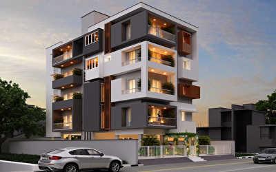 Apartments Architecture  at Good Shepard School, Tirunelveli
