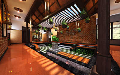 Farmhouse Architecture Interiors  at Sriperumbadur, Chennai