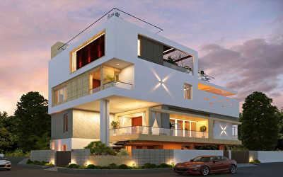 Villa Architecture  at Kotturpuram, Chennai