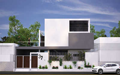 Villa Architecture  at Thiruvallur Road, Uthukottai