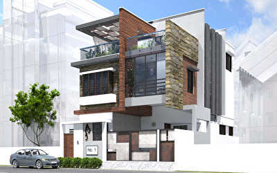 SOUTH EAST VIEW Residential of Villa  at Tambaram