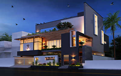 Villa Architecture  at Chrompet, Chennai