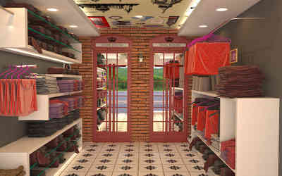 Showroom Interiors  at Hopes College, Coimbatore