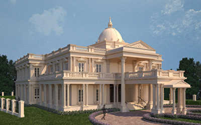 Villa Architecture Interiors  at Pantheerankavu, Calicut