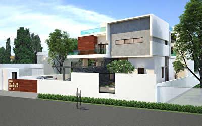 Villa Architecture  at Municipal Colony, Tanjore