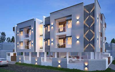 Apartments Architecture  at Sundarapuram, Coimbatore